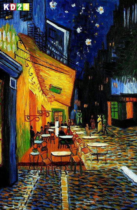Vincent van Gogh - Nachtcafe d83288 60x90cm exzellentes lgemlde handgemalt