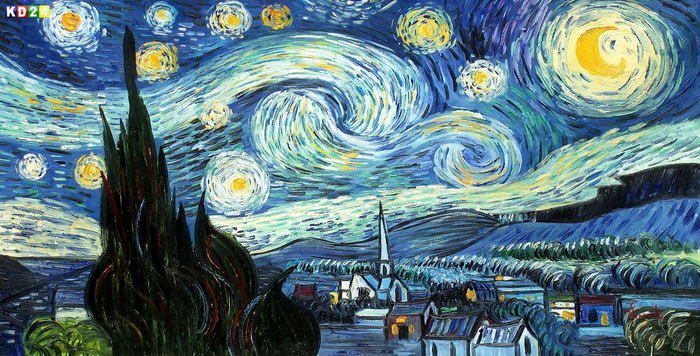 vincent van gogh sternennacht f83325 60x120cm meisterhaftes lgem lde ebay. Black Bedroom Furniture Sets. Home Design Ideas