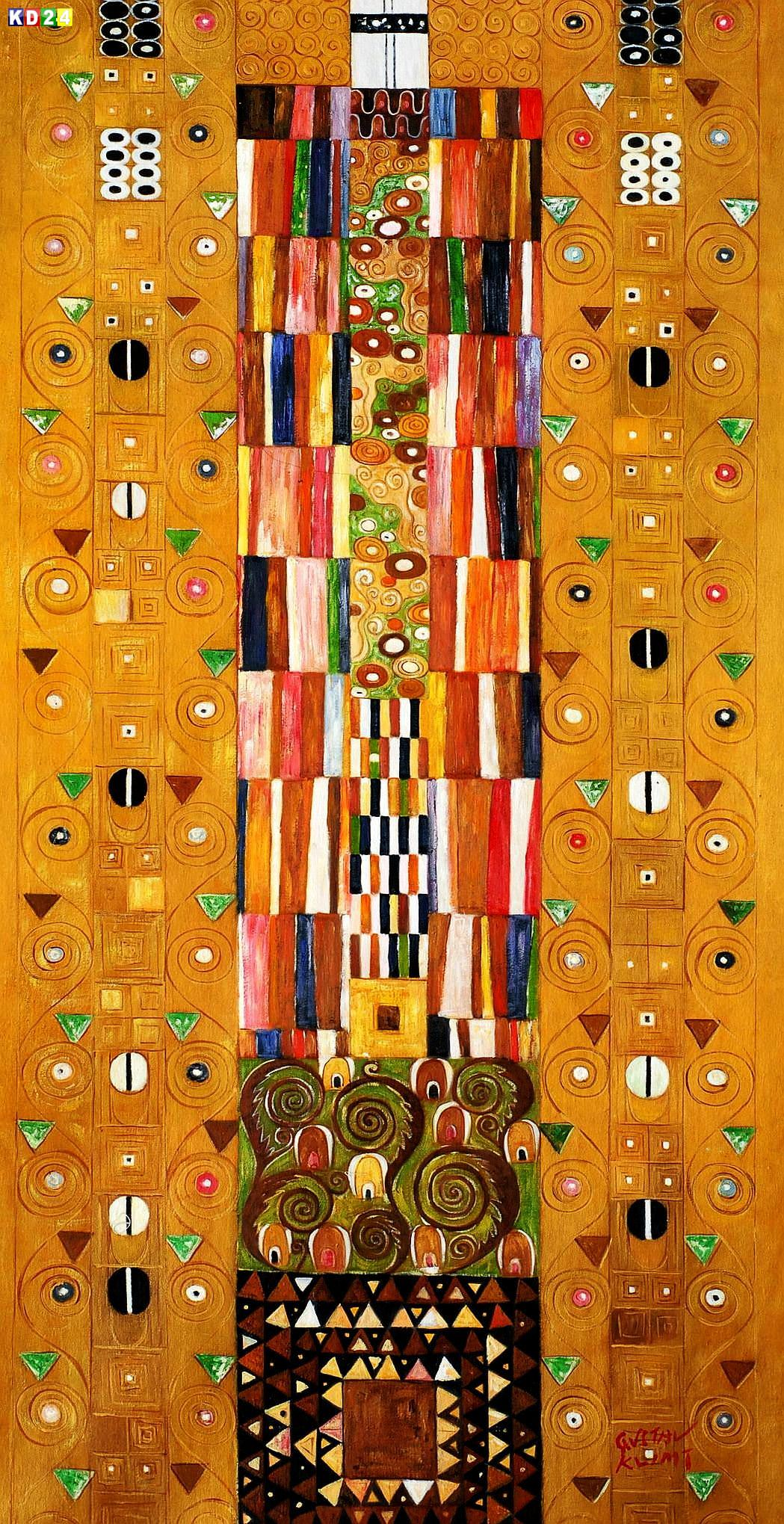 Gustav Klimt - Pattern for the Stoclet Frieze f83504 60x120cm meisterhaftes Ölgemälde Jugendstil Museumsqualität