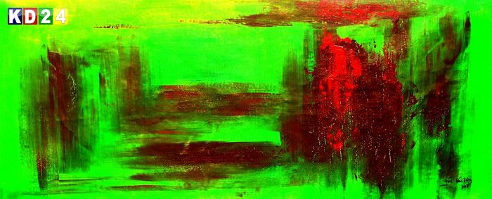Abstract - Venice twilight t85738  75x180cm abstraktes Ölgemälde handgemalt