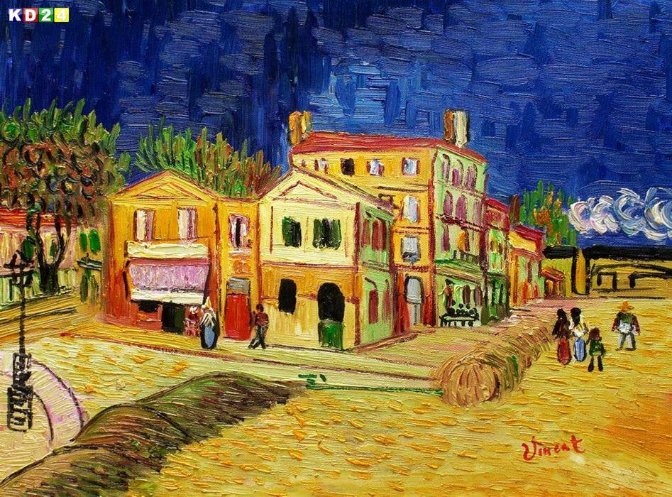 Vincent van Gogh Das gelbe Haus a 30x40cm Gemälde