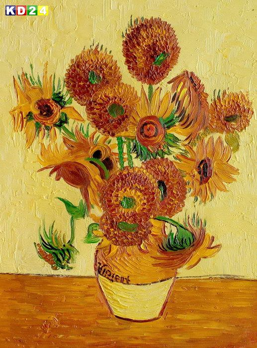 Claude Monet - Vase mit Sonnenblumen a82023 30x40cm exzellentes lgemlde handgemalt