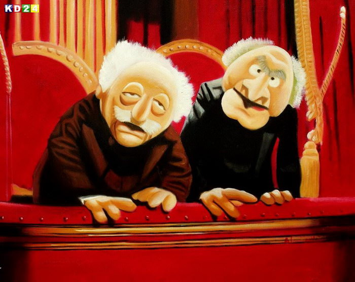 Muppet Opas Waldorf &amp; Statler Pop Art b82639 40x50cm groartiges lbild