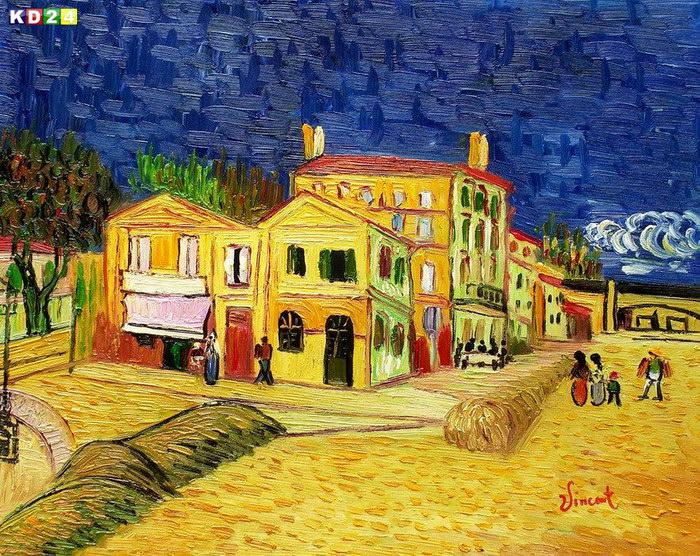 Vincent van Gogh Das gelbe Haus b 40x50cm Gemälde