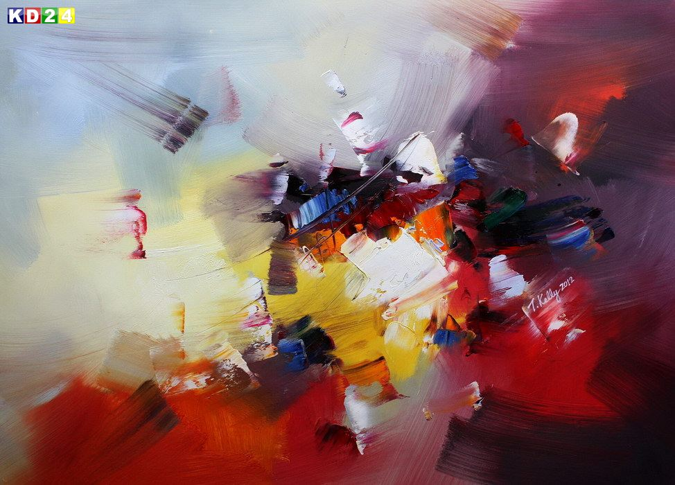 Abstrakt - Sounds of the world d82374 60x90cm abstraktes Ölgemälde