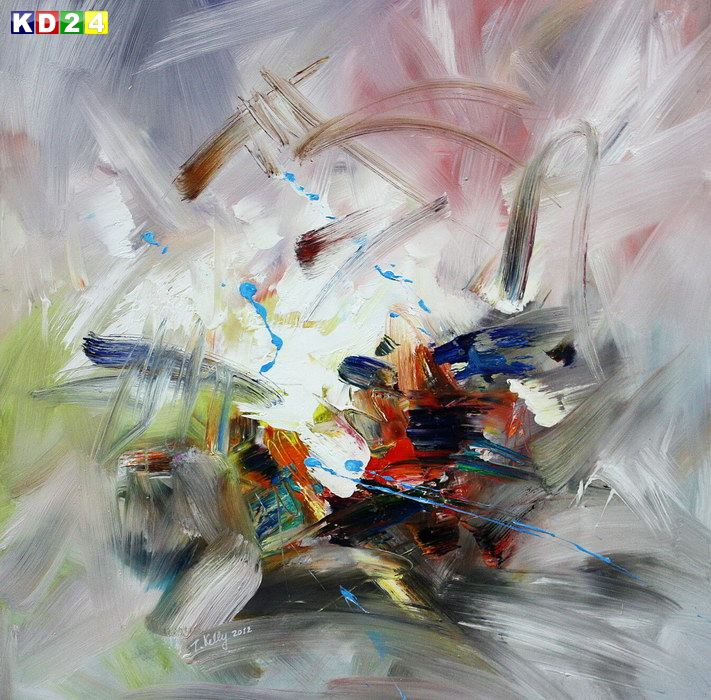 Modern Abstrakt - Blowing colors g82219 80x80cm exzellentes lgemlde handgemalt