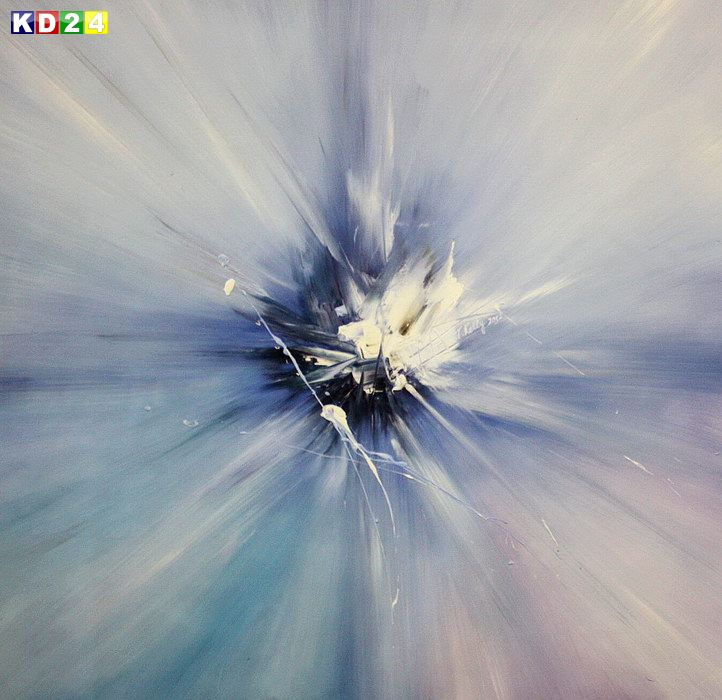 Abstract - The blue monosphere h82180 90x90cm abstraktes Ölgemälde handgemalt