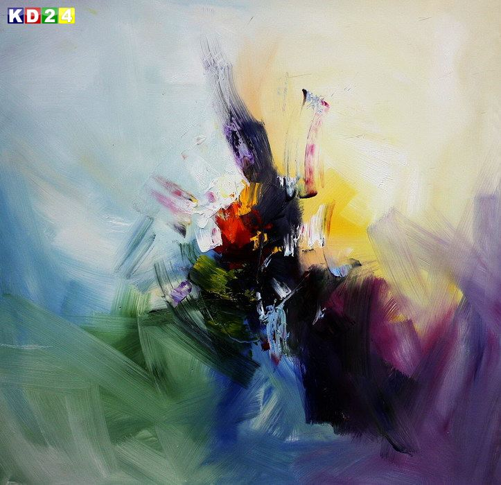 Abstrakt - Rhythm of light x82068 100x100cm abstraktes lbild handgemalt