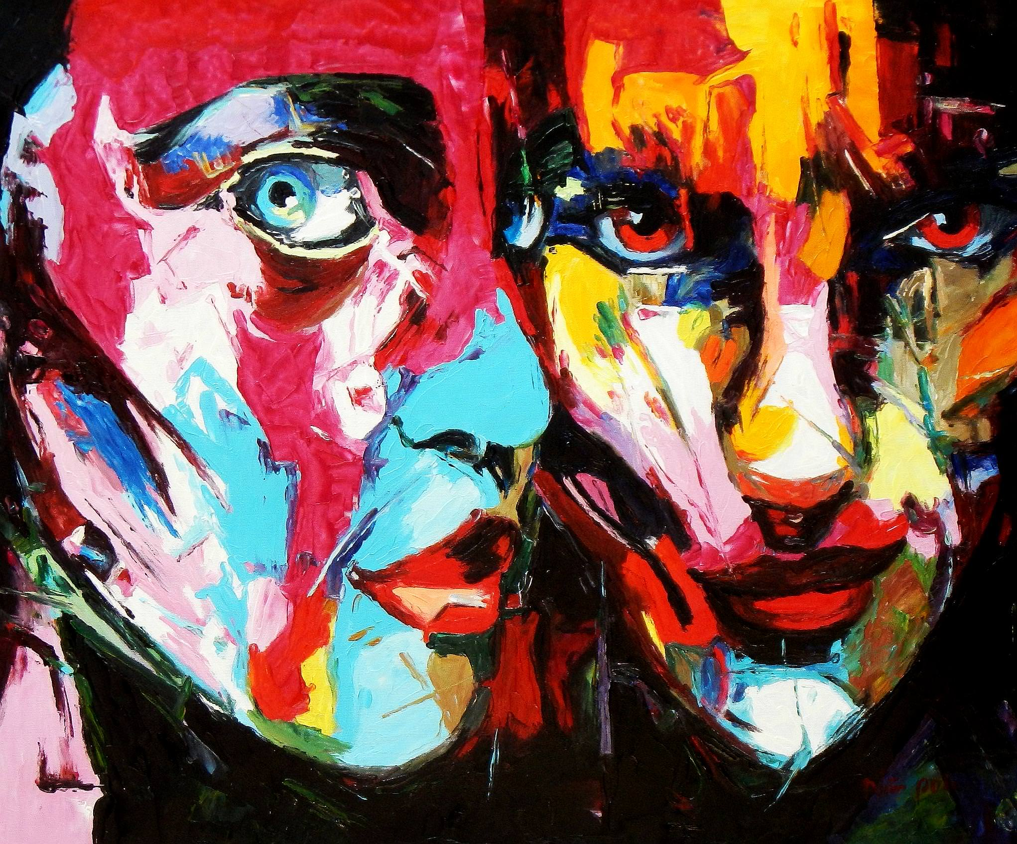 Modern Art - Die Aufmerksamkeit c93646 50x60cm beeindruckendes Ölgemälde