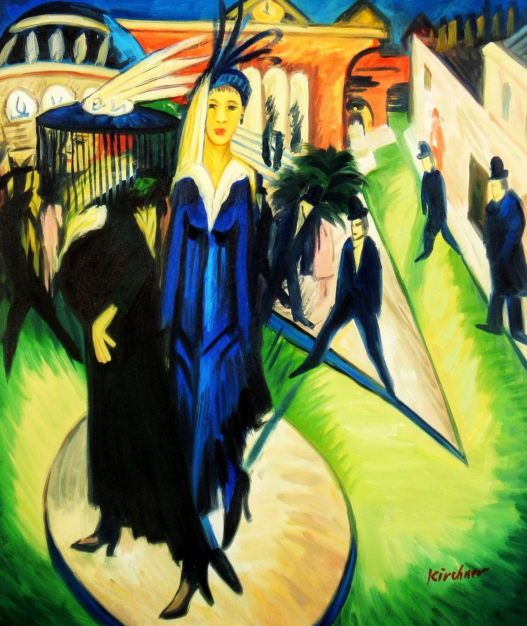 Ernst Ludwig Kirchner - Potsdamer Platz c93653 50x60cm exquisites Ölbild