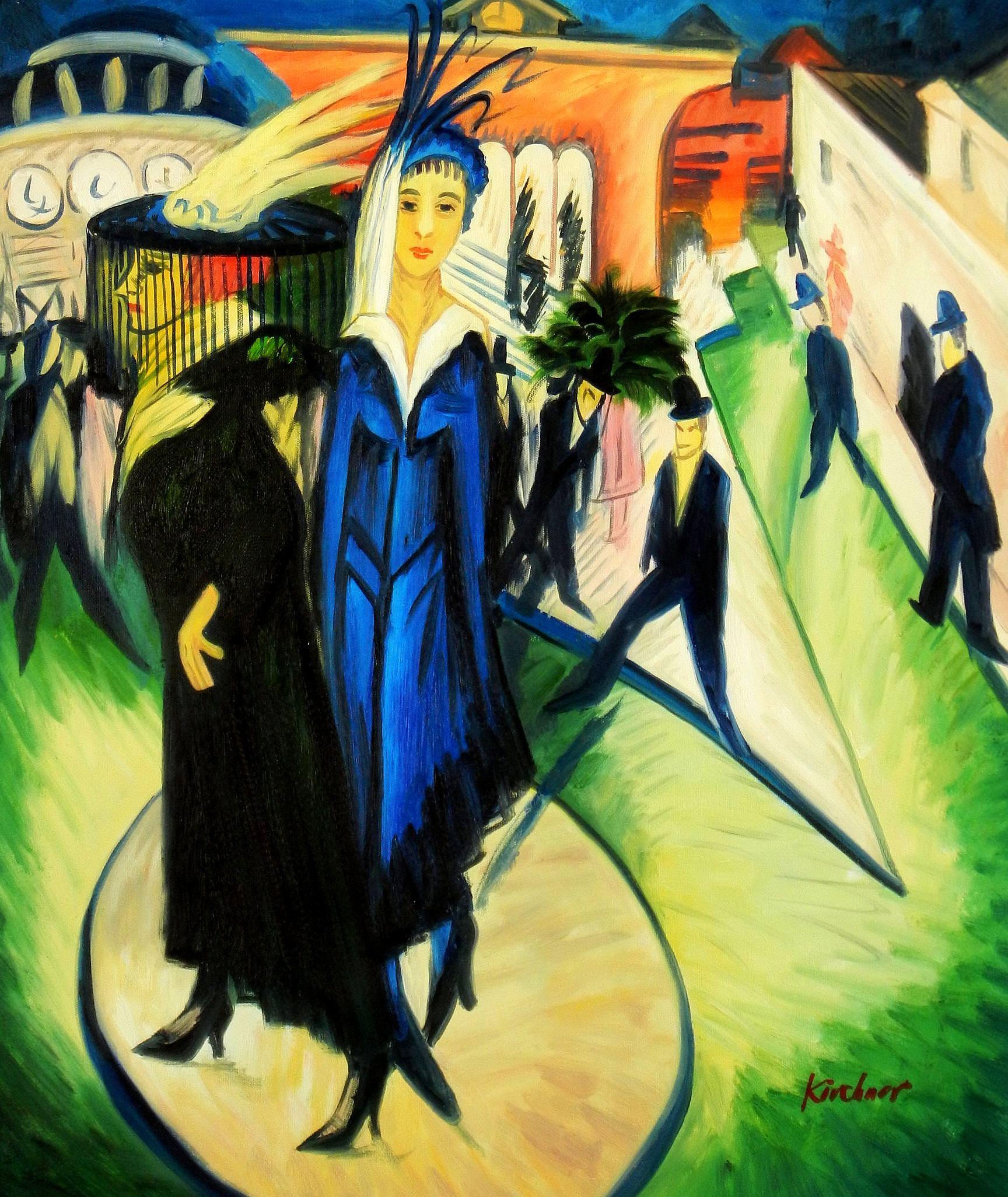 Ernst Ludwig Kirchner - Potsdamer Platz c93654 50x60cm exquisites Ölbild