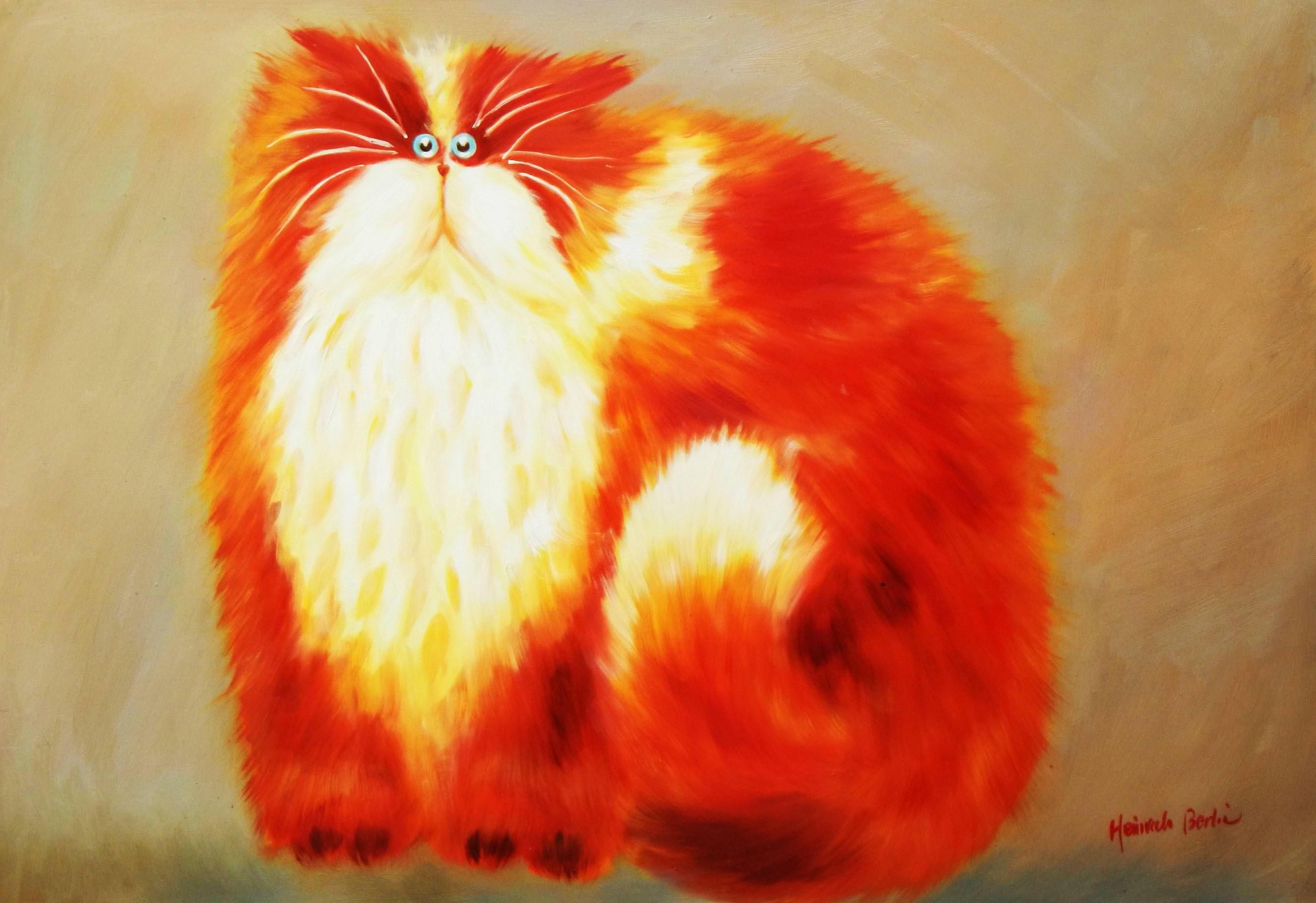Pop Art - Pummel Kater Garfield d93681 60x90cm lustiges Ölbild handgemalt