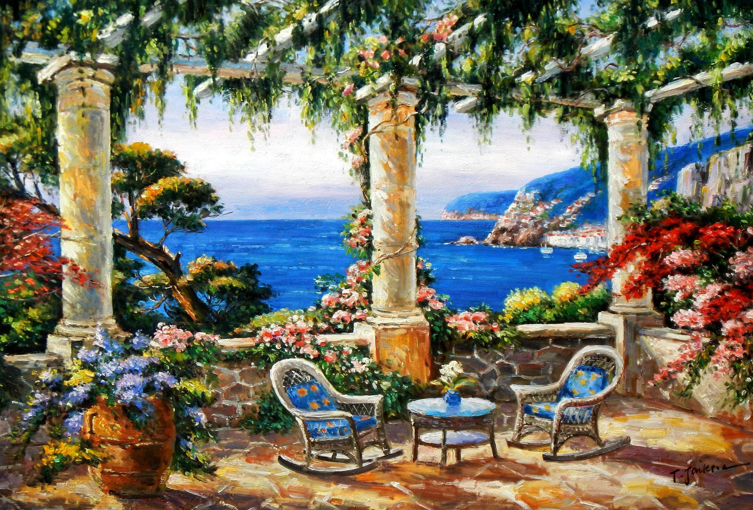 Mediterrane Gemälde mediterrane impression