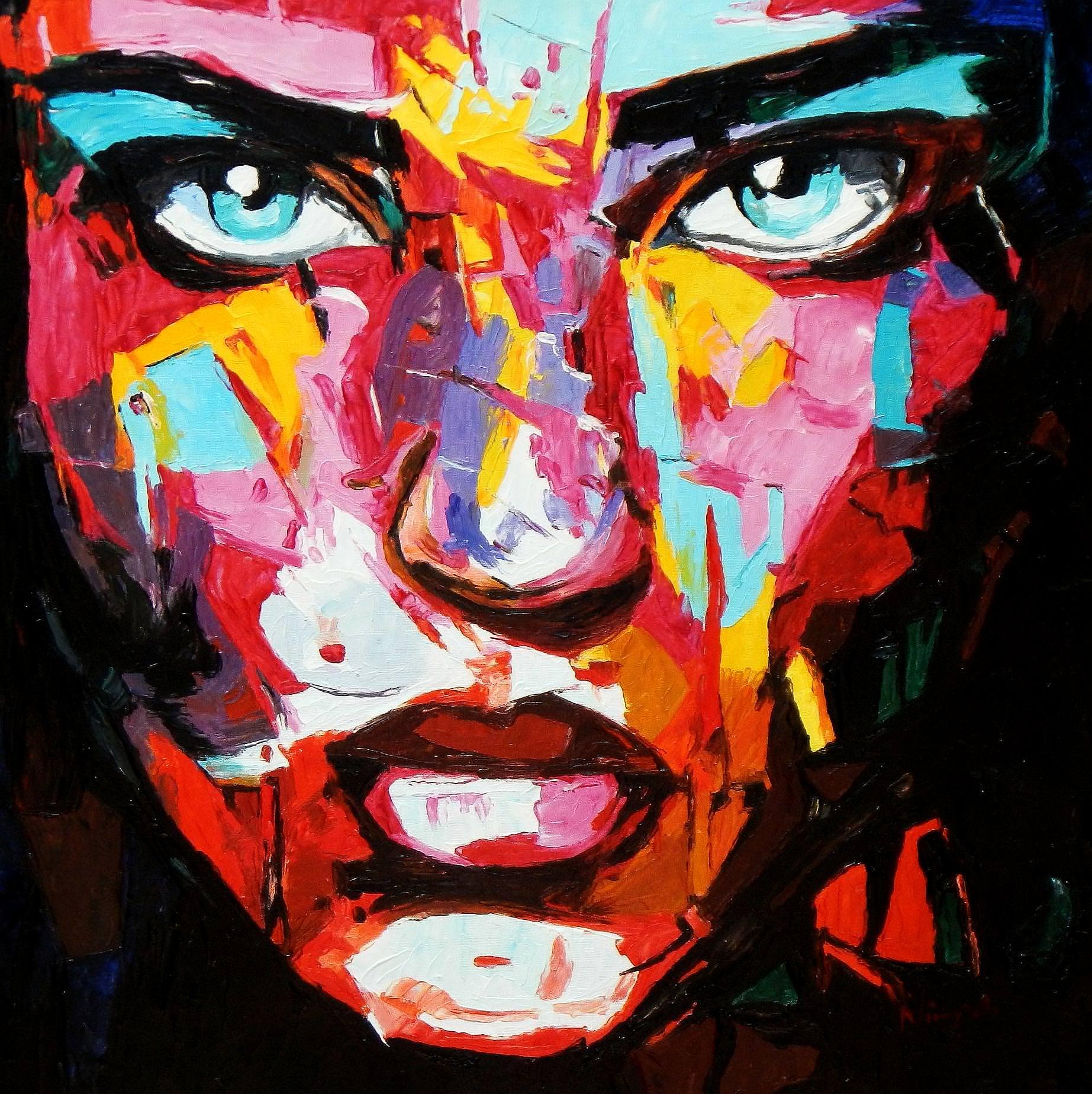 Modern Art - Die Verlässlichkeit e93723 60x60cm eindrucksvolles Ölbild