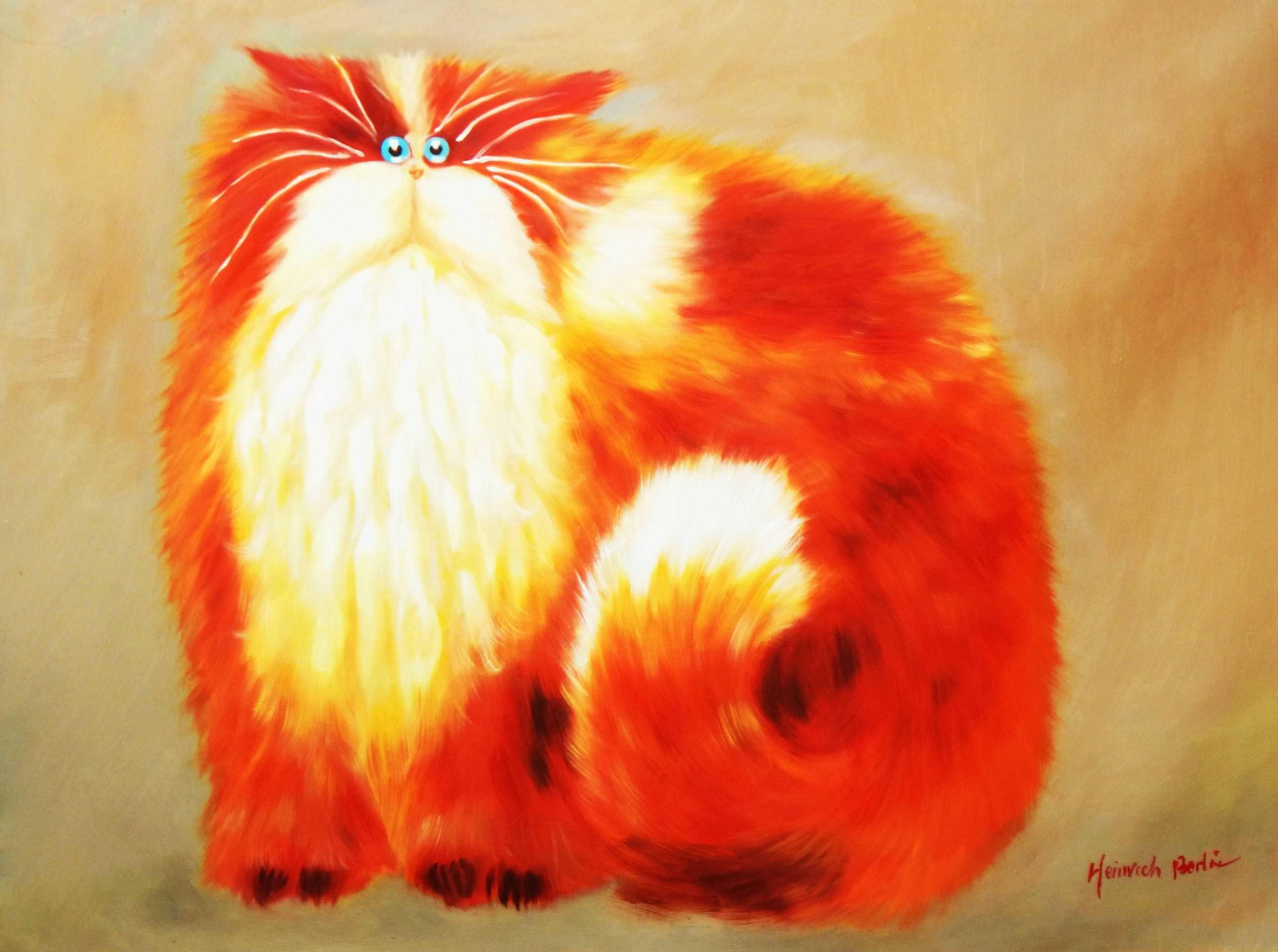 Pop Art - Pummel Kater Garfield i93777 80x110cm lustiges Ölbild handgemalt