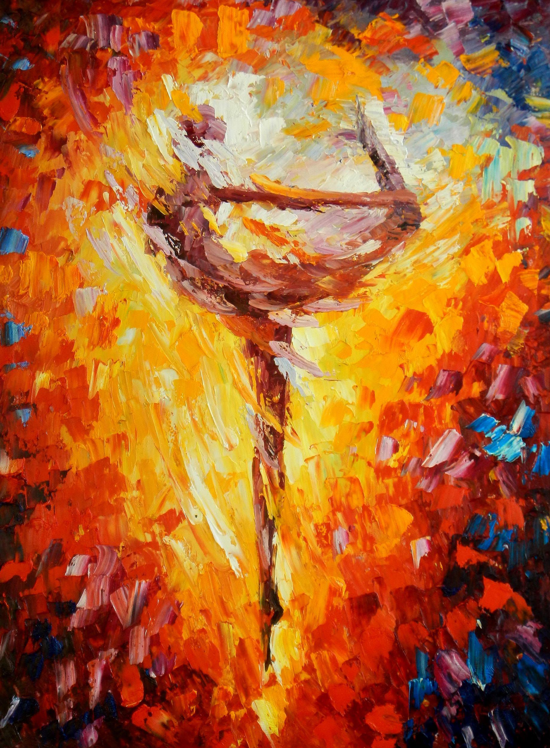 Modern Art - Passion der Tänzerin i93783 80x110cm abstraktes Ölbild