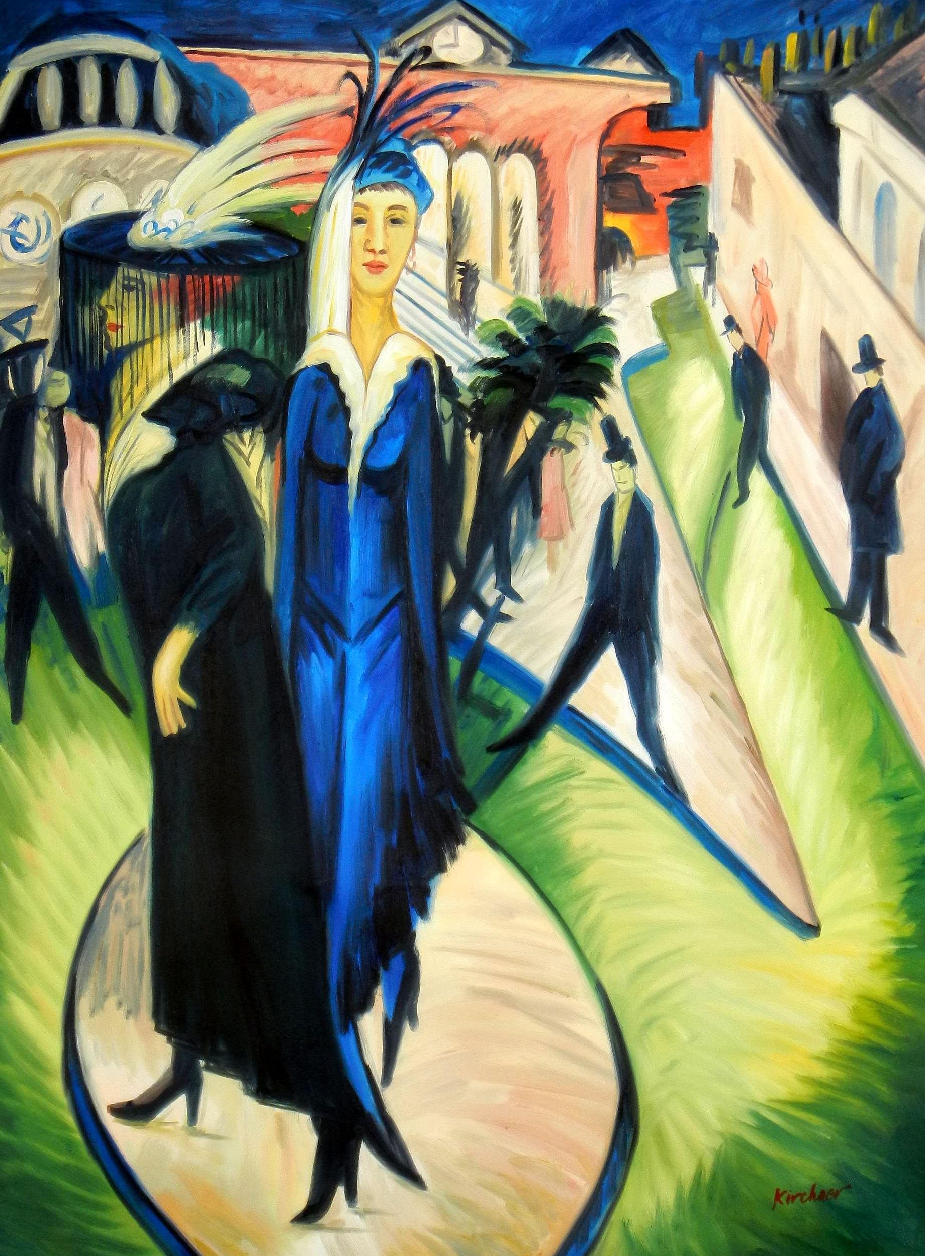 Ernst Ludwig Kirchner - Potsdamer Platz i93789 80x110cm exquisites Ölbild