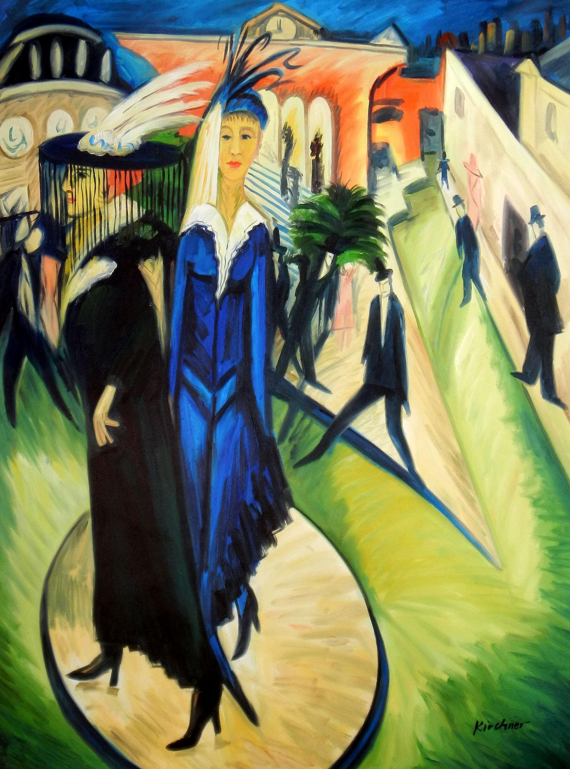 Ernst Ludwig Kirchner - Potsdamer Platz k93794 90x120cm exquisites Ölbild