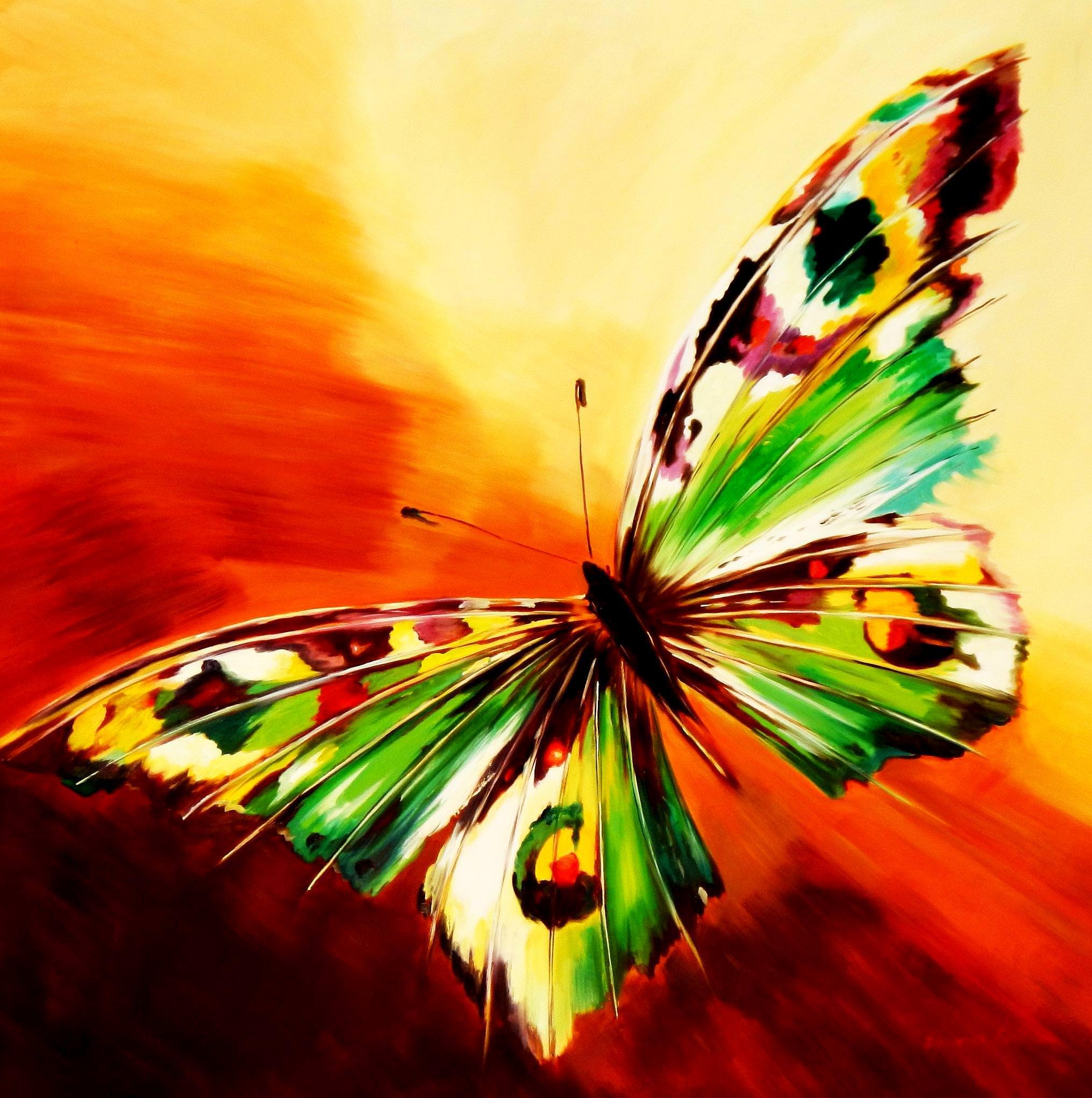 Modern Art - Die Schönheit der Natur m93810 120x120cm beeindruckendes Gemälde