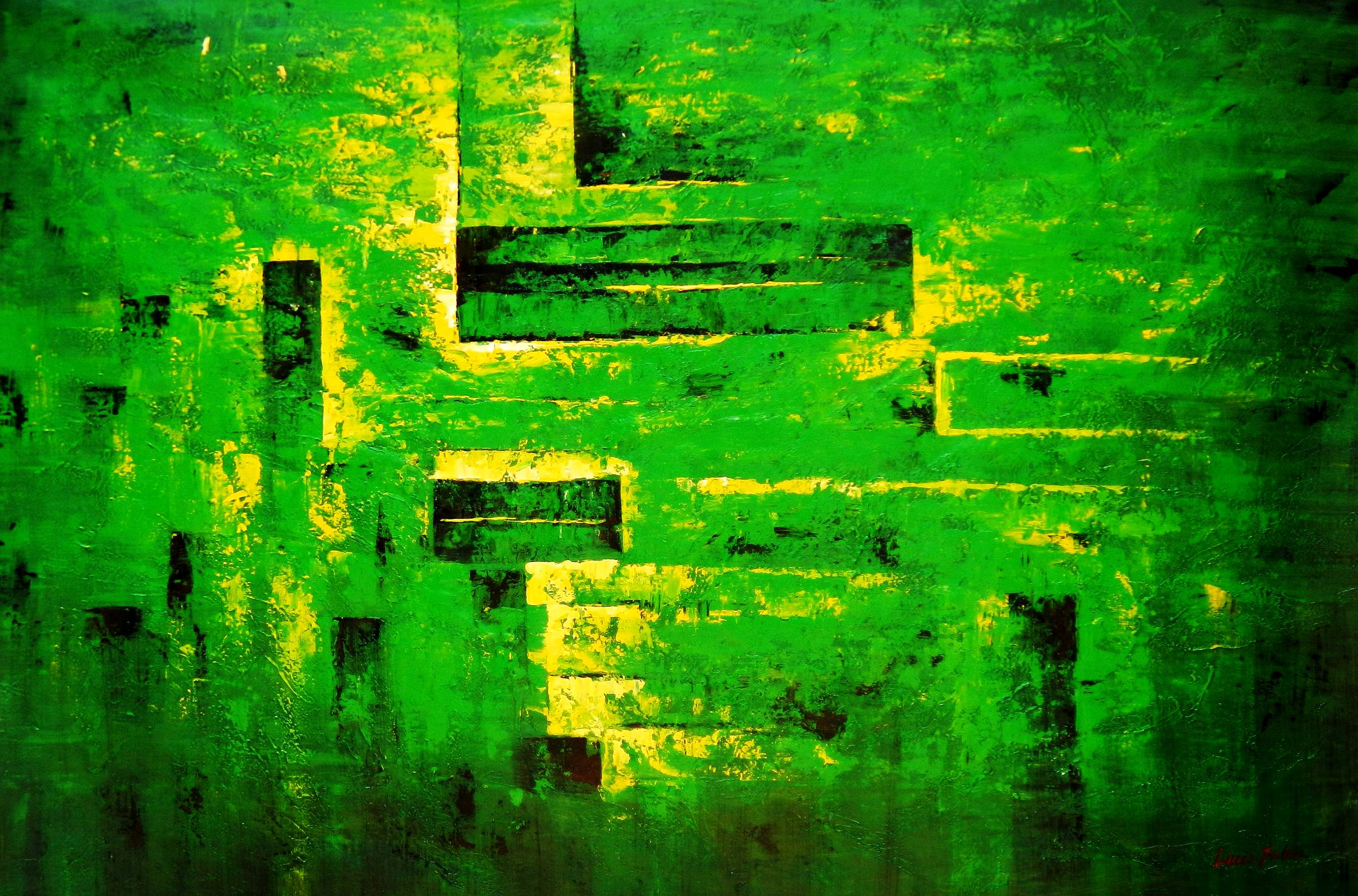 Abstrakt - Berlin Tiergarten p93830 120x180cm abstraktes Ölbild handgemalt