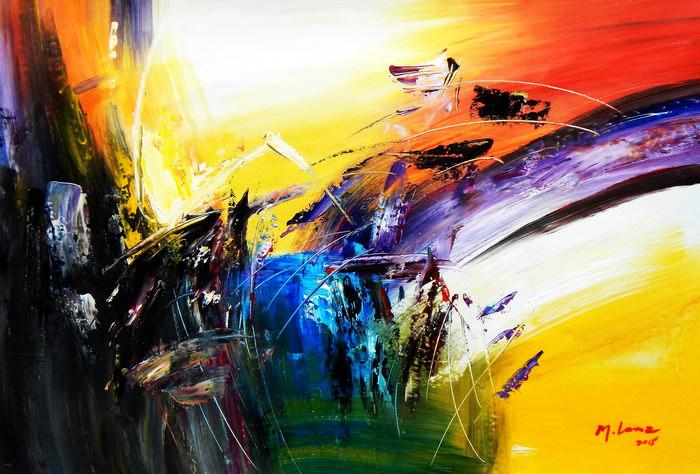 Abstract - Impact study d91186 60x90cm abstraktes Ölgemälde