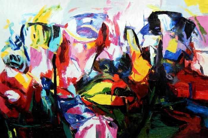 Modern Art - Die Unerreichbarkeit d91238 60x90cm beeindruckendes Ölbild