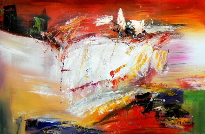 Abstract - Fireworks d91249 60x90cm exzellentes Ölgemälde