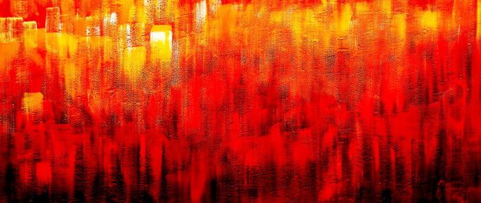 Abstract - Legacy of Fire III t91473 75x180cm abstraktes Ölbild handgemalt