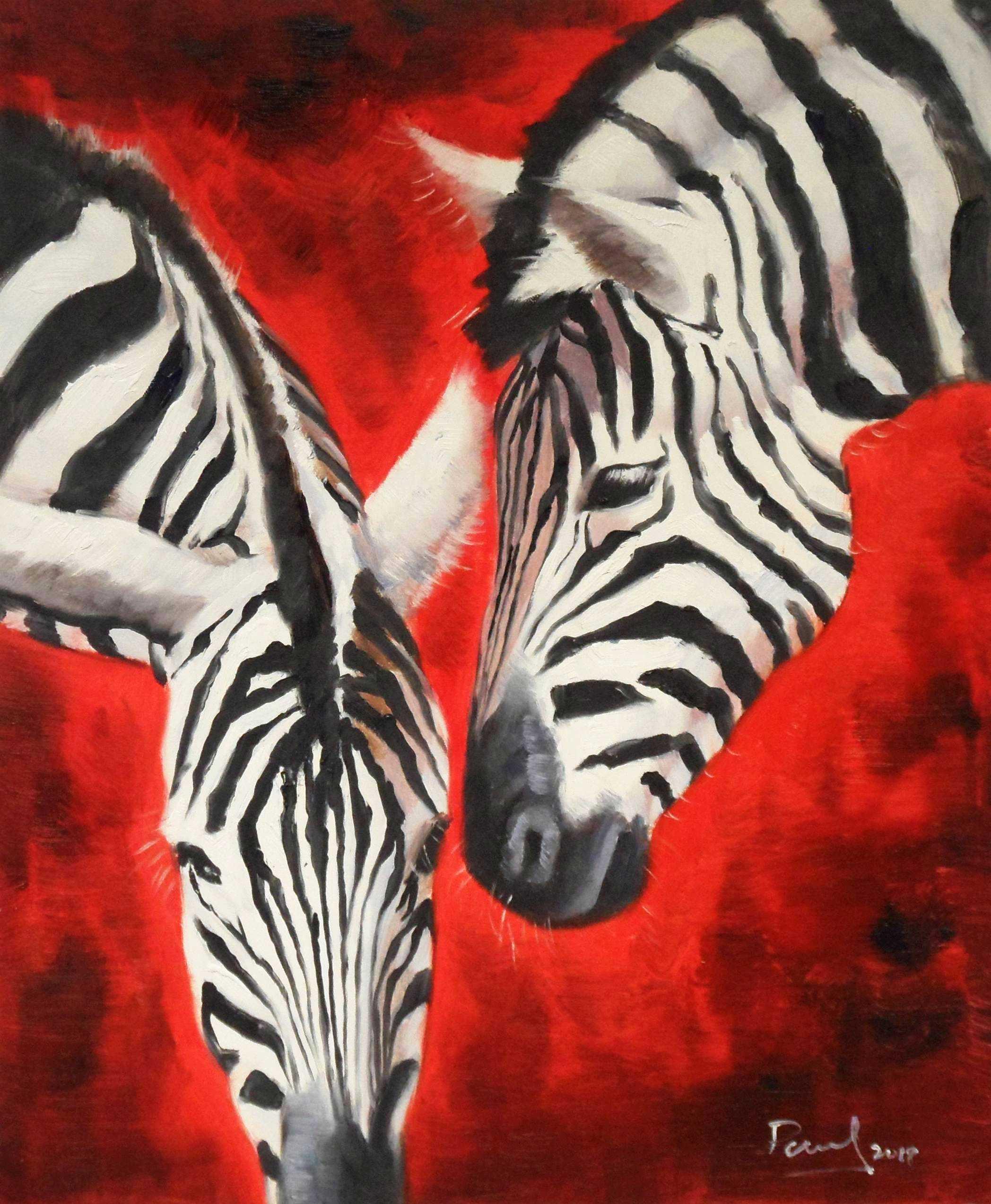 Modern Art - Angola wildlife c95412 50x60cm exzellentes Ölgemälde