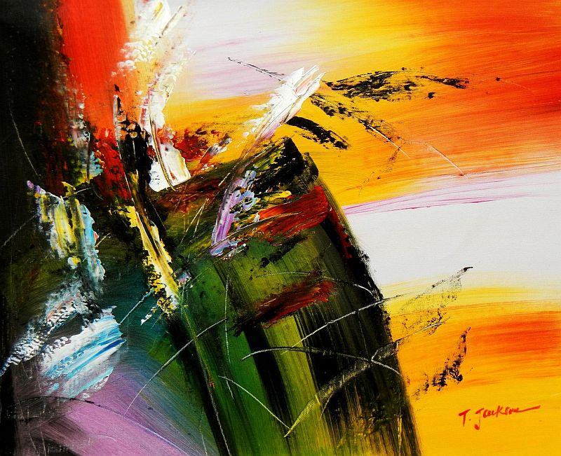 Abstract - Impact study c92020 50x60cm abstraktes Ölgemälde
