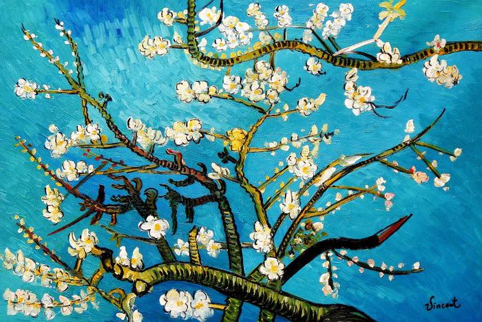 Vincent van Gogh - Äste mit Mandelblüten d91712 60x90cm Ölbild handgemalt
