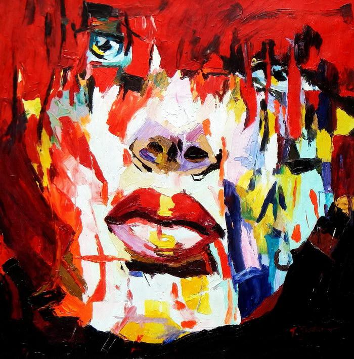 Modern Art - Die Besonnenheit e91978 60x60cm großartiges Ölgemälde