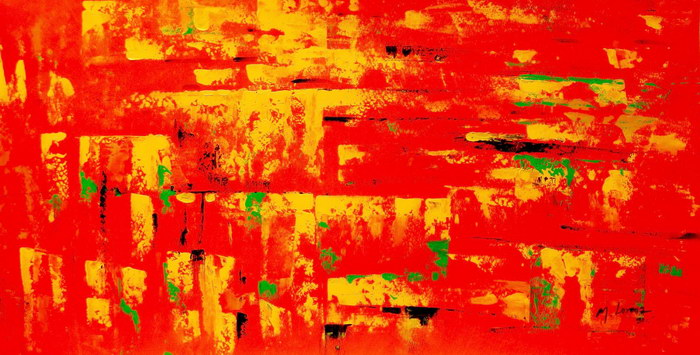 Abstrakt - Hot summer in Santa Fe f92041 60x120cm Ölbild handgemalt