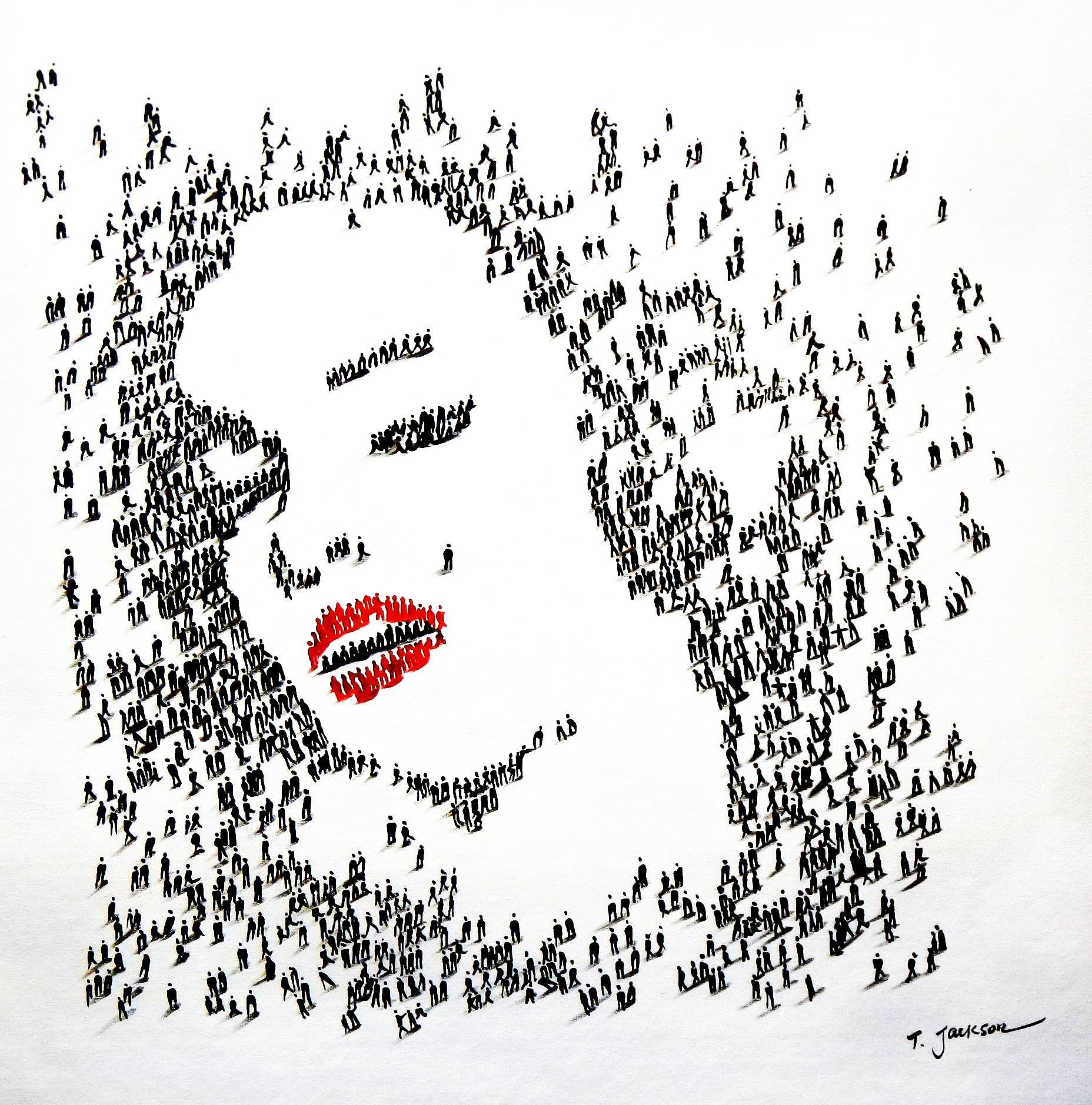 Modern Art - Marylin Monroes people g91811 80x80cm eindrucksvolles Gemälde handgemalt