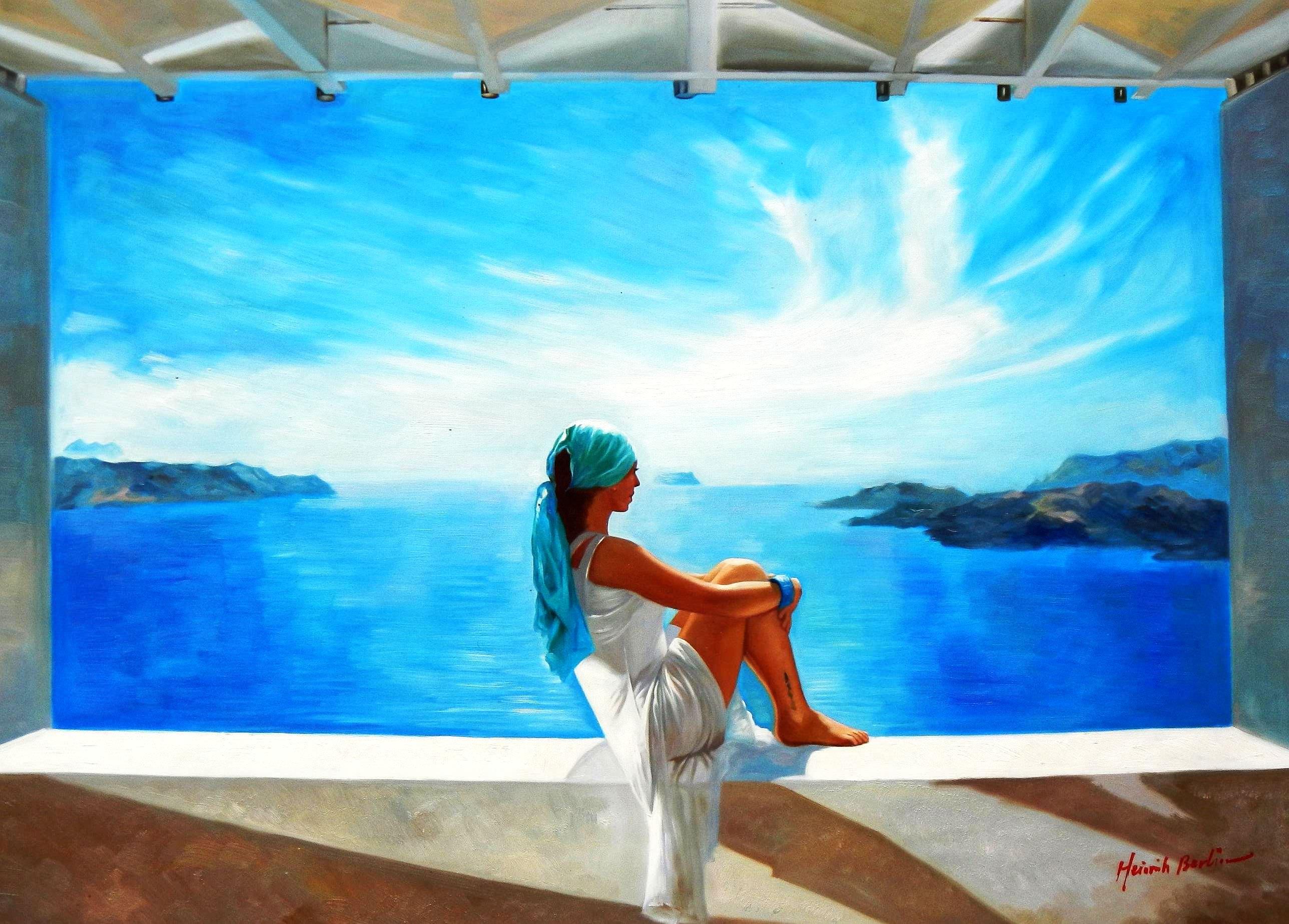 Modern Art - Grenzenlose Freiheit i91866 80x110cm brilliantes Ölgemälde handgemalt