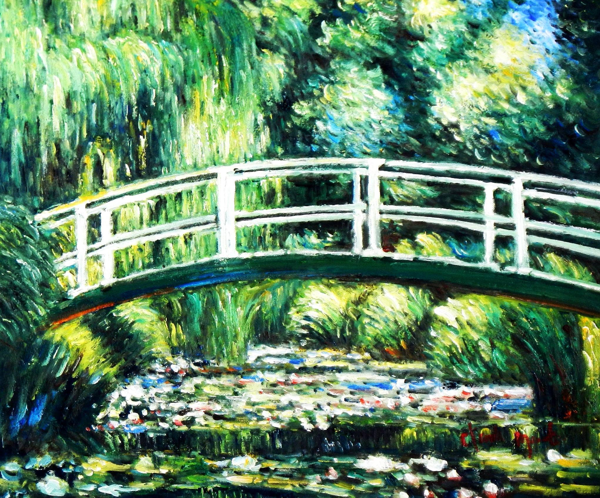 Claude Monet - Brücke über dem Seerosenteich b93881 40x50cm Ölbild handgemalt