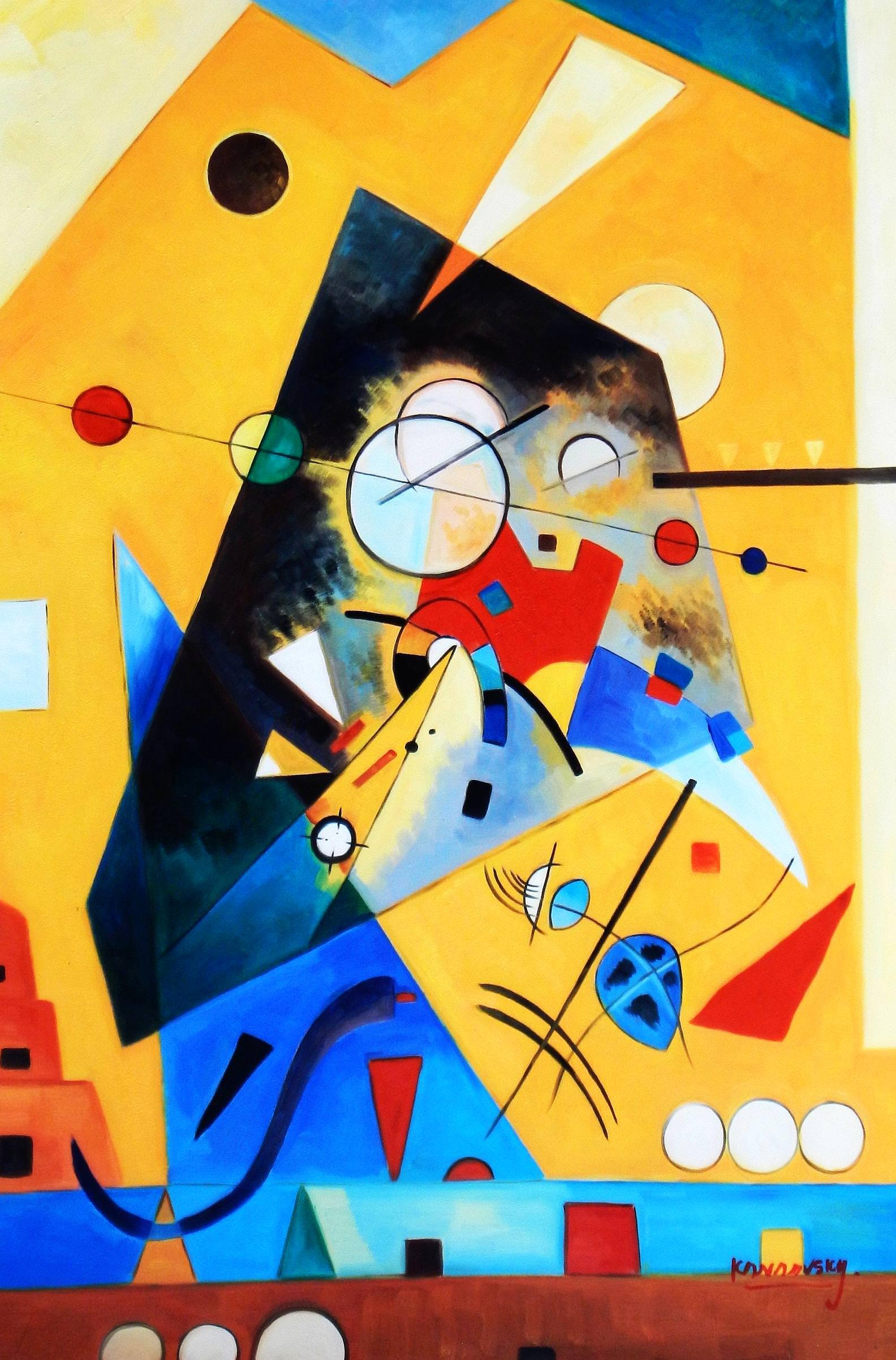 Wassily Kandinsky - Harmonie tranquille d93965 60x90cm Ölbild handgemalt