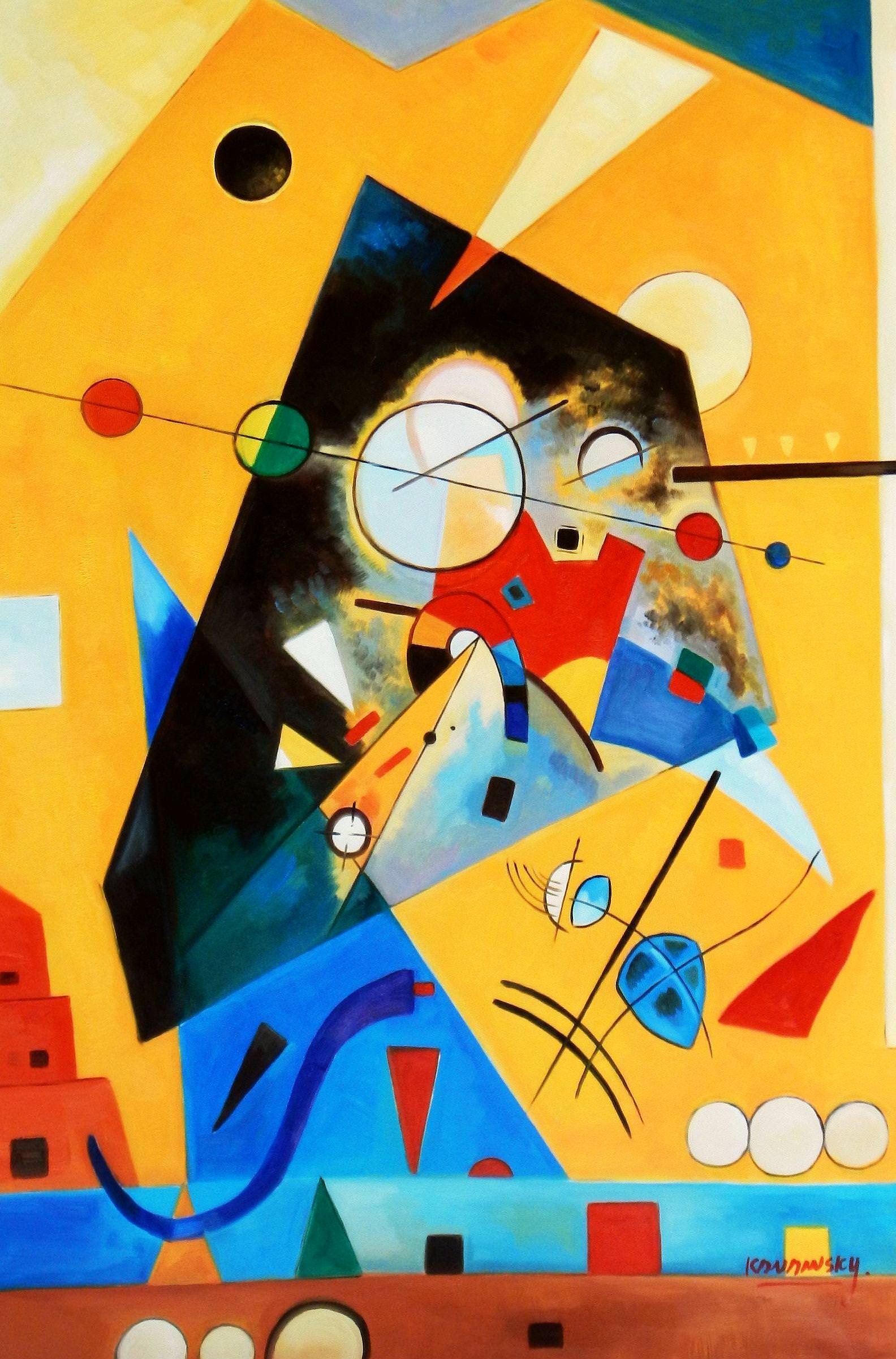 Wassily Kandinsky - Harmonie tranquille d93966 60x90cm Ölbild handgemalt