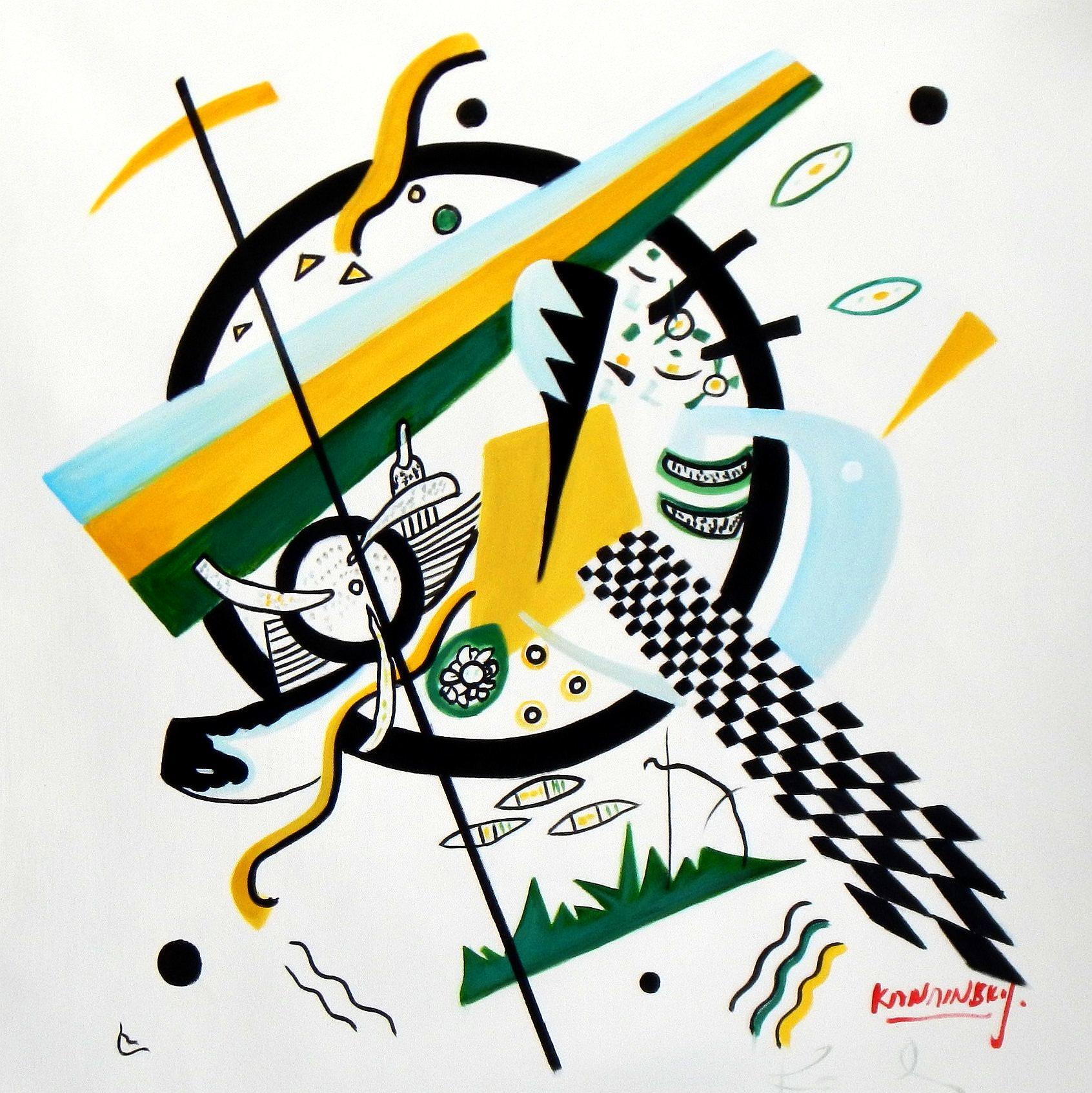 Wassily Kandinsky - Kleine Welten e93971 60x60cm exquisites Gemälde