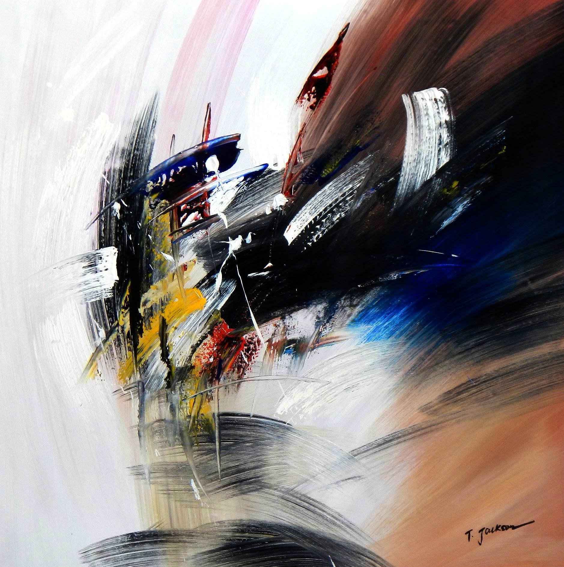 Abstract - New York sailing journey g93996 80x80cm abstraktes Ölgemälde handgemalt