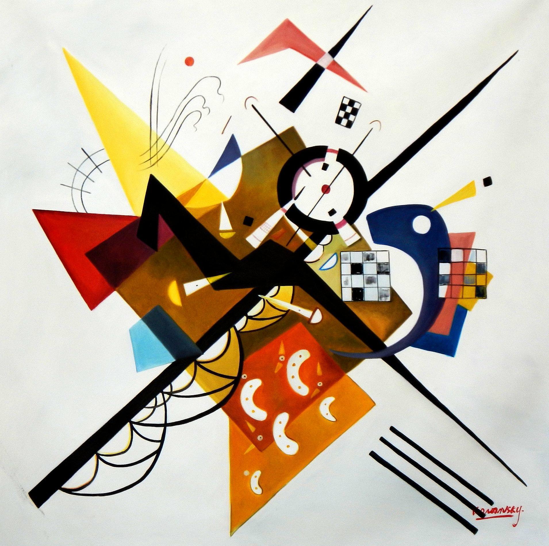 Wassily Kandinsky - Gleichgewicht in der Zusammensetzung m94089 120x120cm exquisites Gemälde