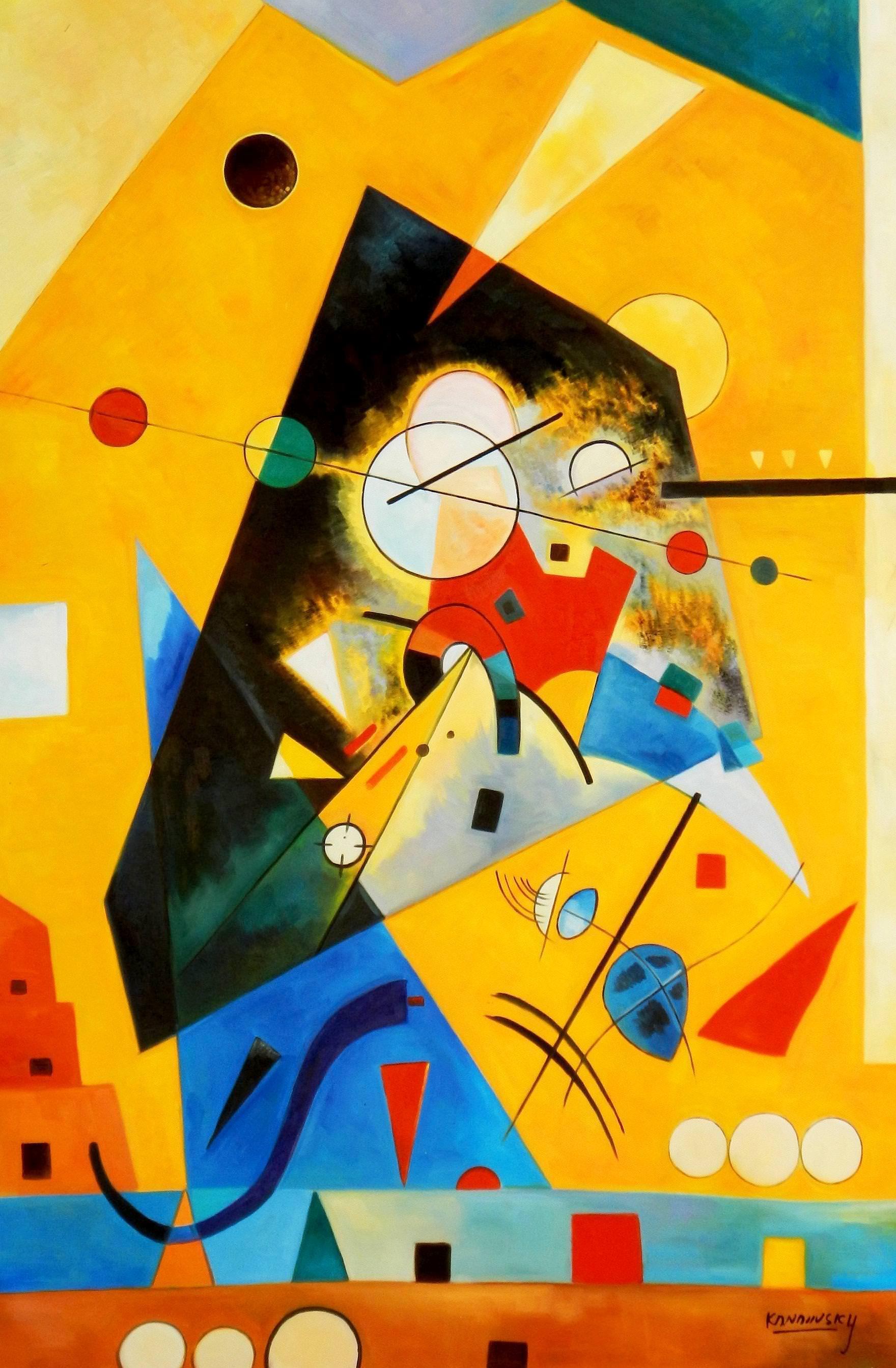 Wassily Kandinsky - Harmonie tranquille p94107 120x180cm Ölbild handgemalt