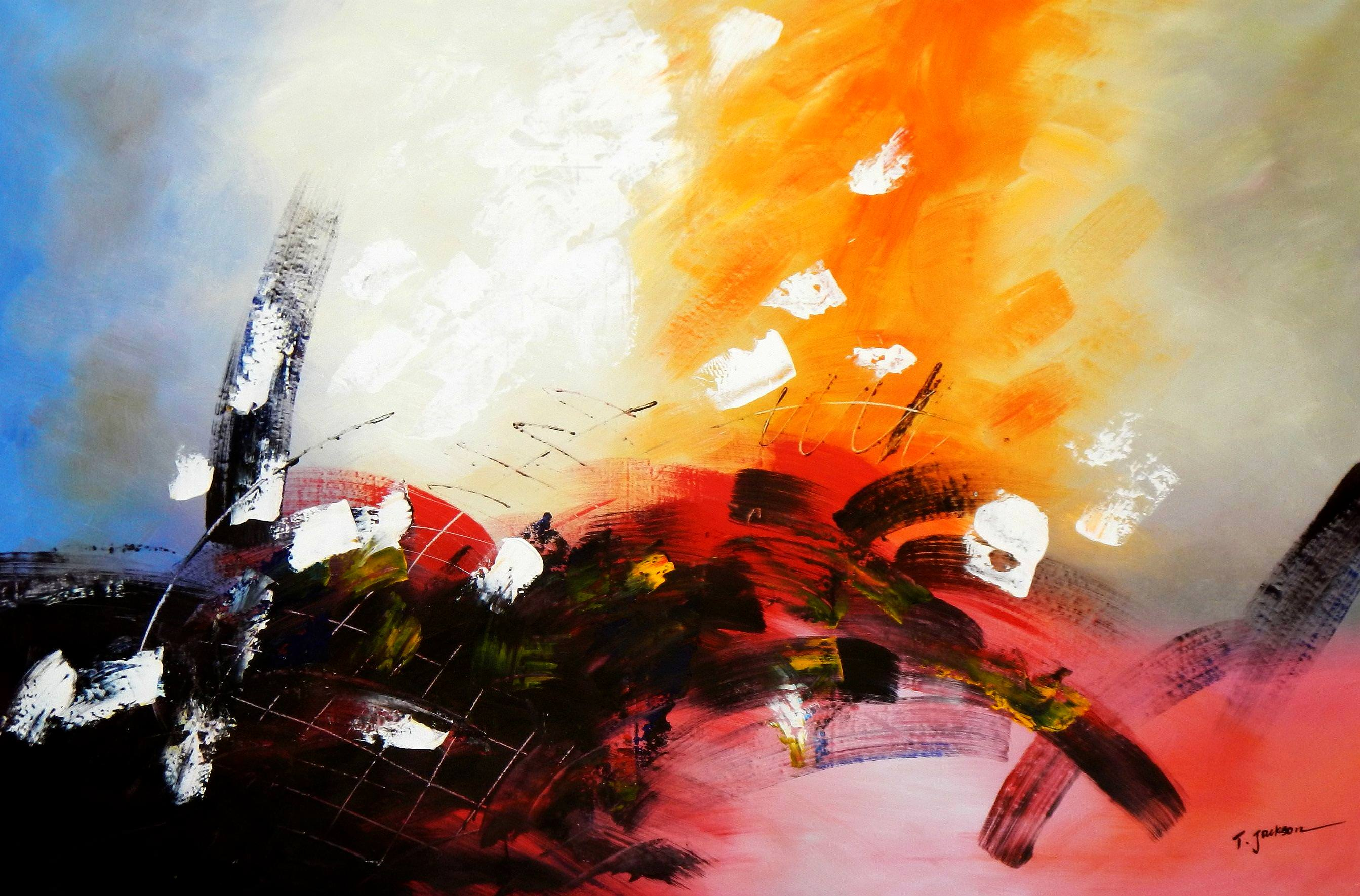 Abstrakt - Rhythm of light p94121 120x180cm abstraktes Ölbild handgemalt