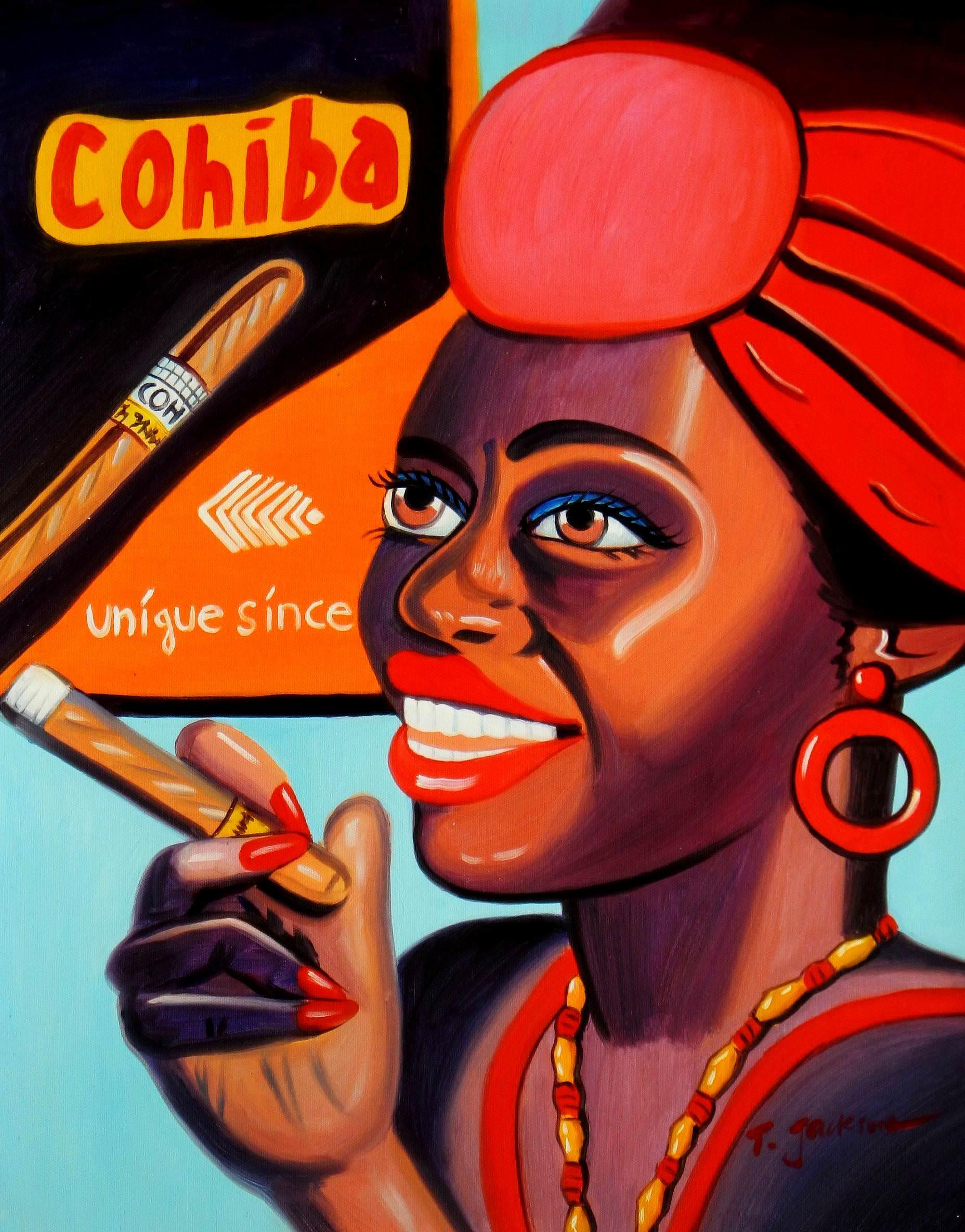 Cuba Cohiba cigars b96007 40x50cm exzellentes Ölgemälde handgemalt