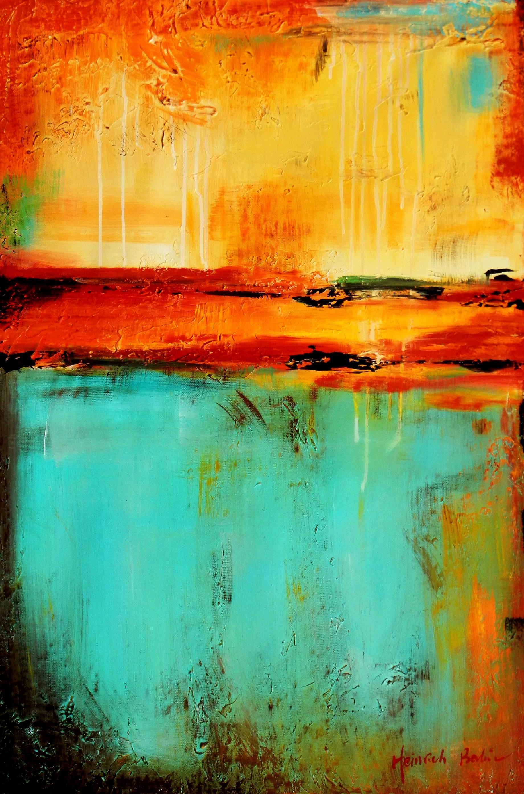 Abstract - Mirage in Babylon d96197 60x90cm abstraktes Ölbild