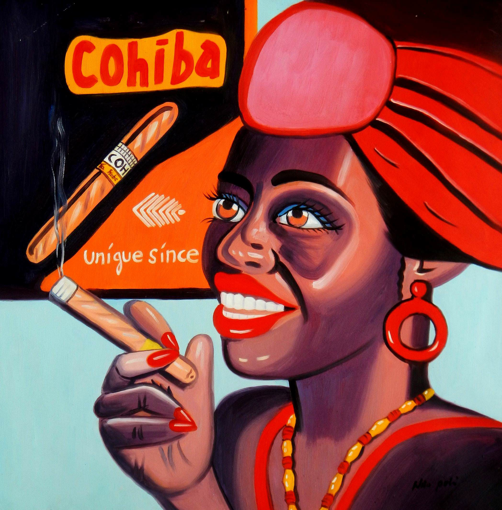 Cuba Cohiba cigars e96069 60x60cm exzellentes Ölgemälde handgemalt