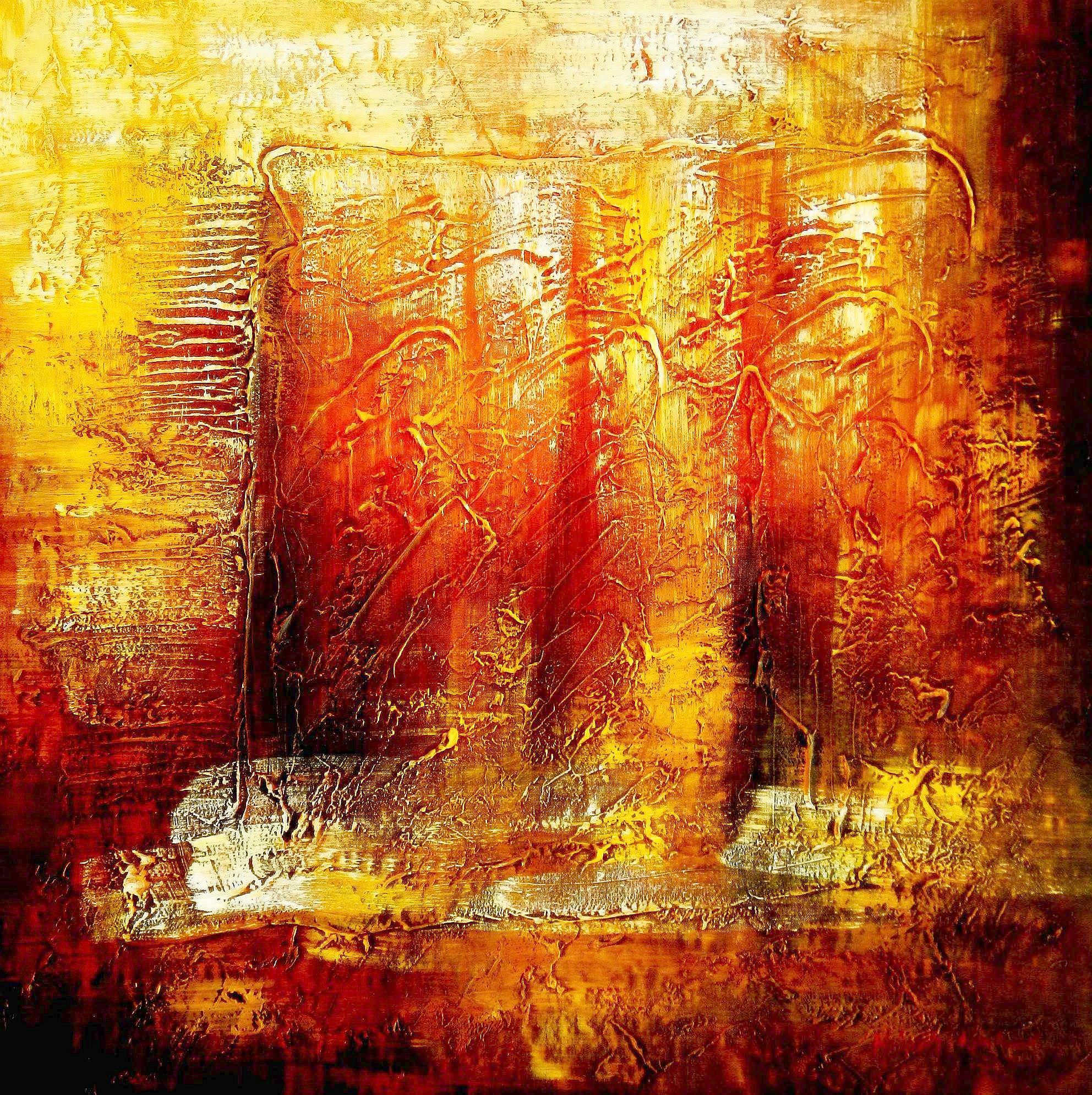 Abstract - Legacy of Fire III g96171 80x80cm abstraktes Ölbild handgemalt