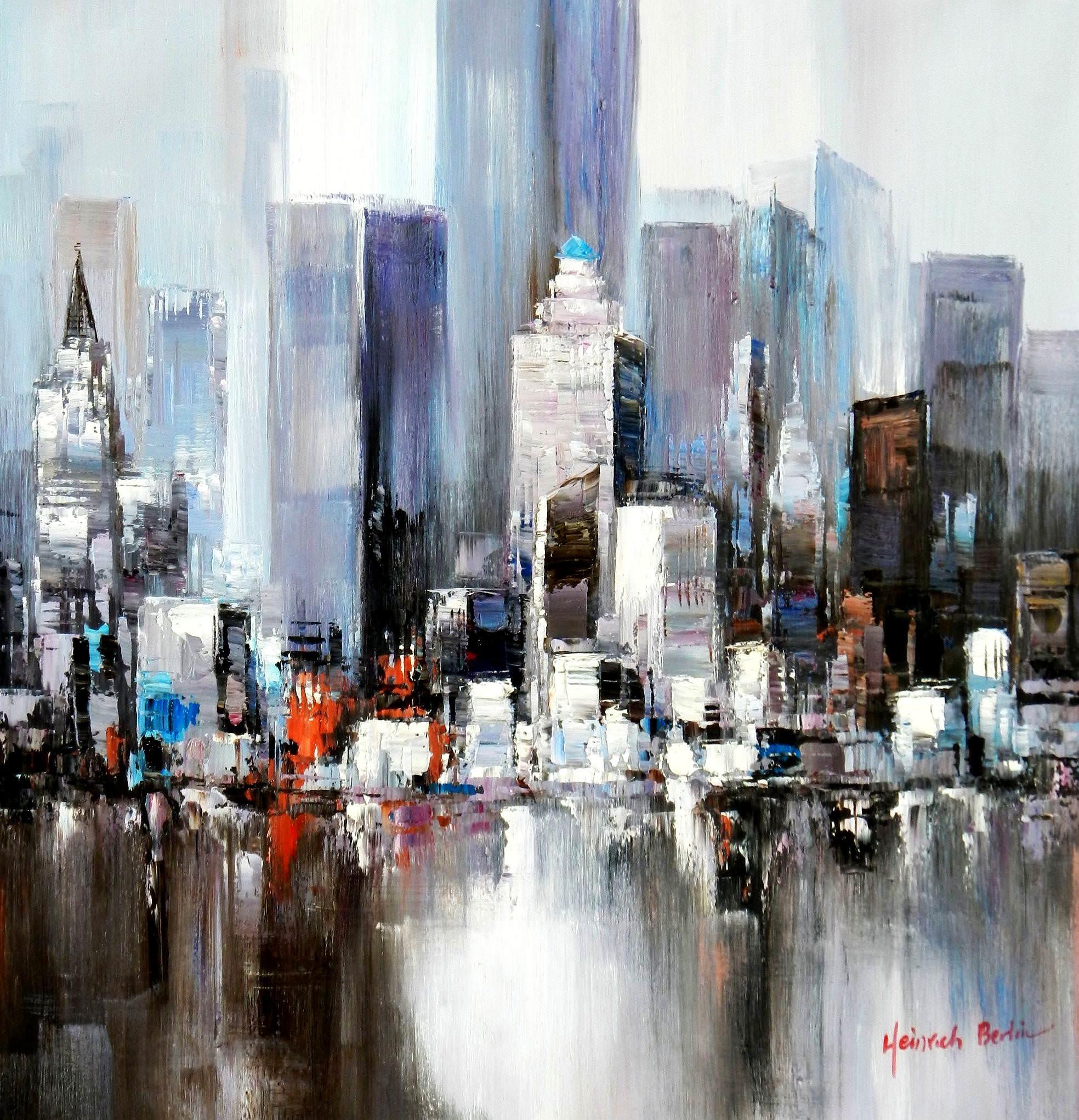 New York Skyline Abstract Art