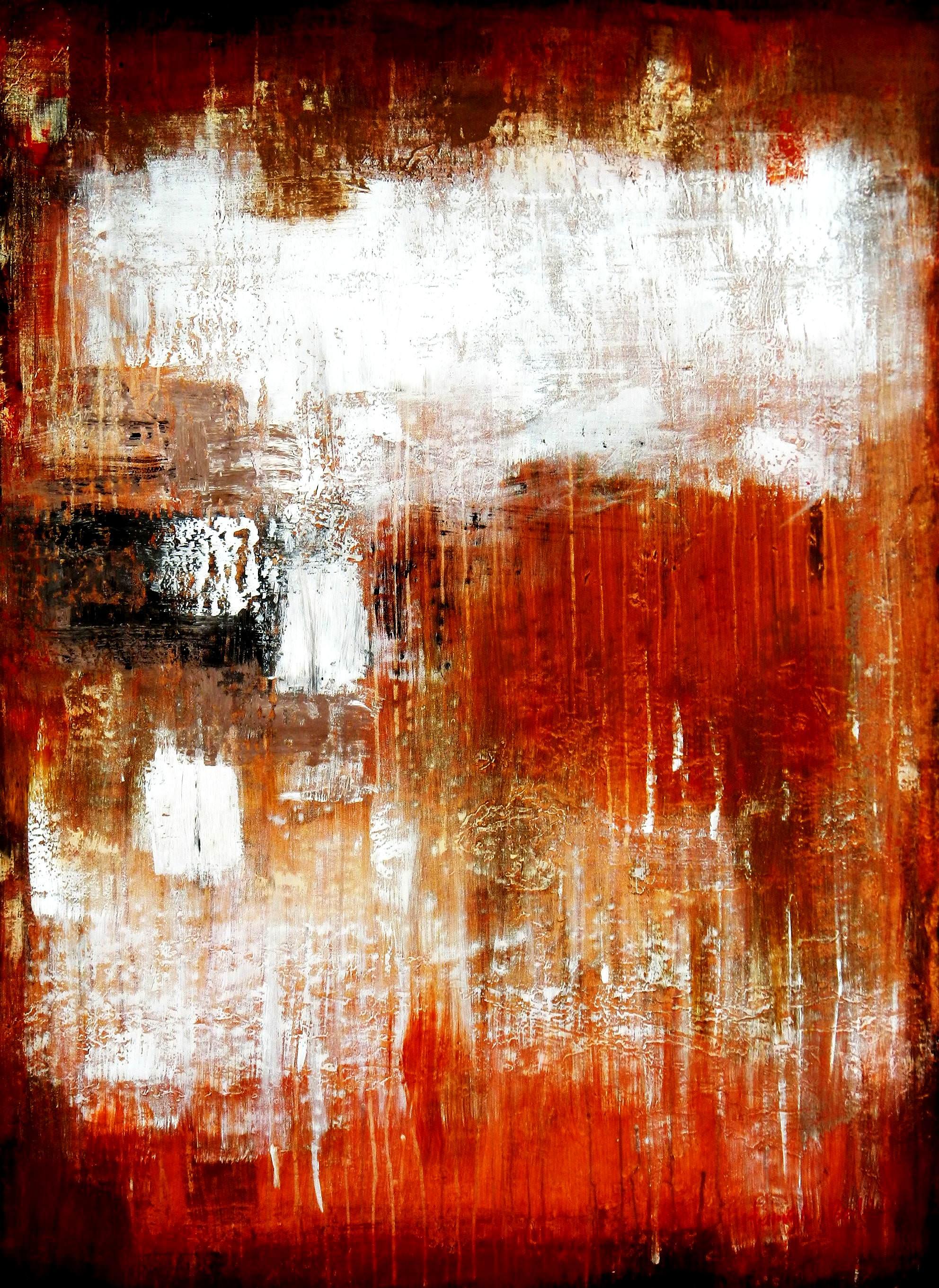 Abstract - Legacy of Fire V i96106 80x110cm abstraktes Ölbild handgemalt