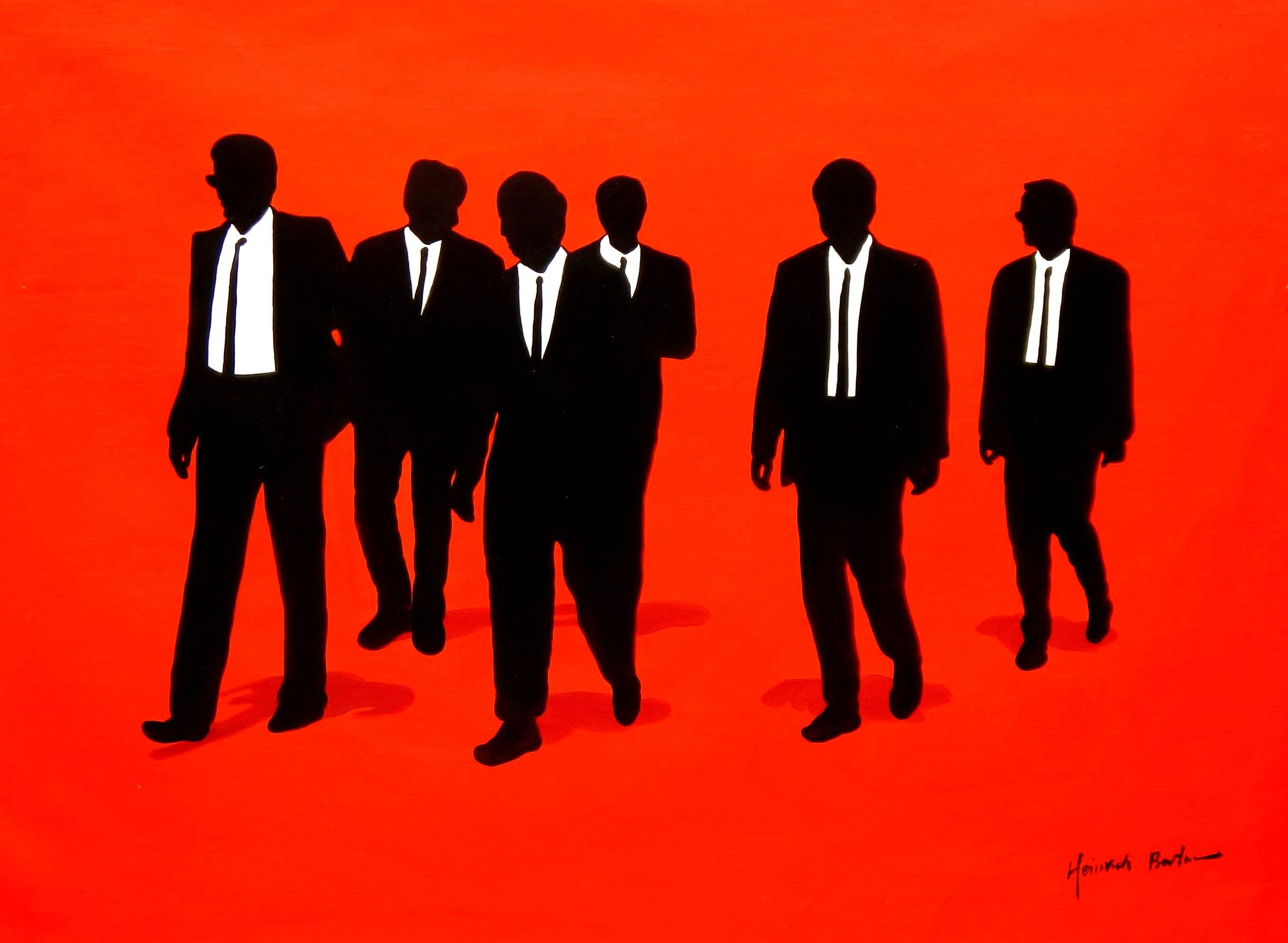 Pop Art - Kult Homage of Reservoir Dogs i96111 80x110cm exquisites Ölgemälde
